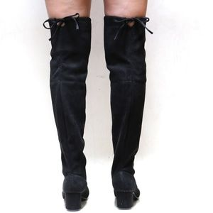 f90cefc3b8 Shoes | New Black Stretchy Over Knee Drawstring Boots | Poshmark